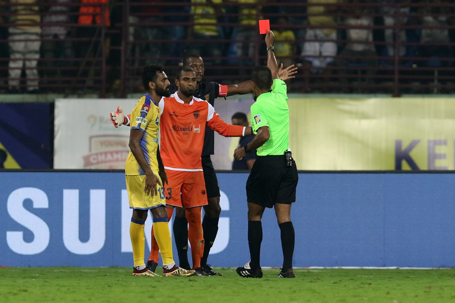 Rehenesh red card