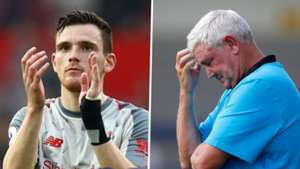Liverpool's Robertson pans 'unfair' negative reaction to Bruce's Newcastle appointment
