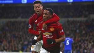 Anthony Martial Jesse Lingard Cardiff Manchester United EPL 12222018