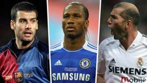 Pep Guardiola Didier Drogba Zinedine Zidane