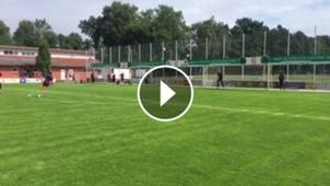 play golazo de Chicharito Hernández en la práctica de West Ham 01082017