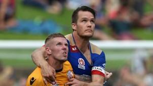 Andy Keogh Nigel Boogaard Newcastle Jets v Perth Glory A-League 15012017