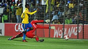 Khama Billiat scores for Sundowns against Bidvest Wits