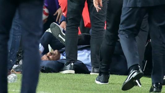Senol Gunes head injury Fenerbahce vs Besiktas 04192018