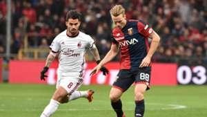Oscar Hiljemark Suso Genoa Milan Serie A