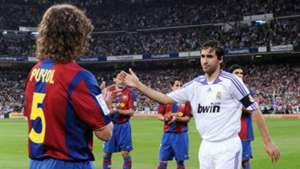 Carles Puyol Raul Barcelona Real Madrid