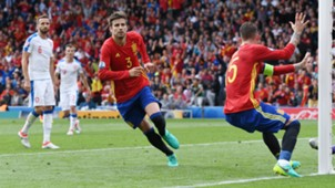 Gerard Pique Spain Czech Republic Euro 2016