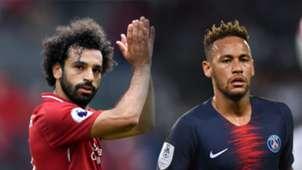 GFX Salah Neymar Liverpool PSG 2018