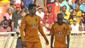 Leonardo Castro and Joseph Molangoane of Kaizer Chiefs