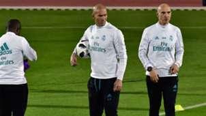 Zinedine Zidane Real Madrid Club World Cup training 11122017