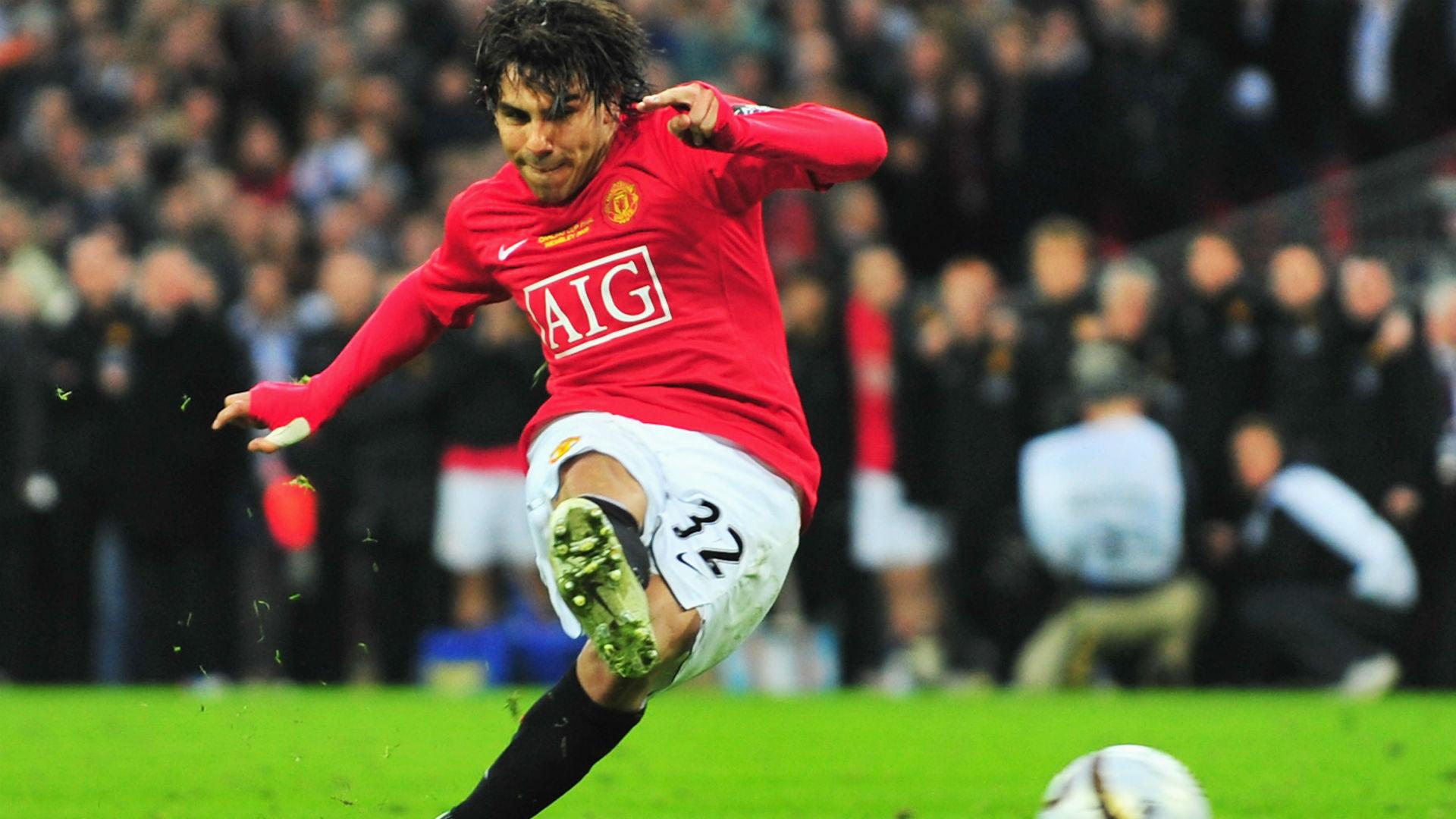 Carlos Tevez Carling Cup Final match between Manchester United Tottenham 2009