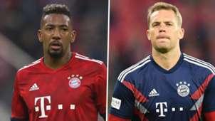 Jerome Boateng Manuel Neuer Bayern Munich