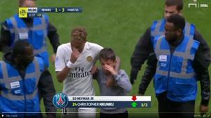 neymar and a boy