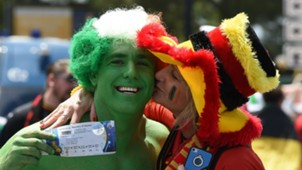 Ireland and Belgium supporters 18062016