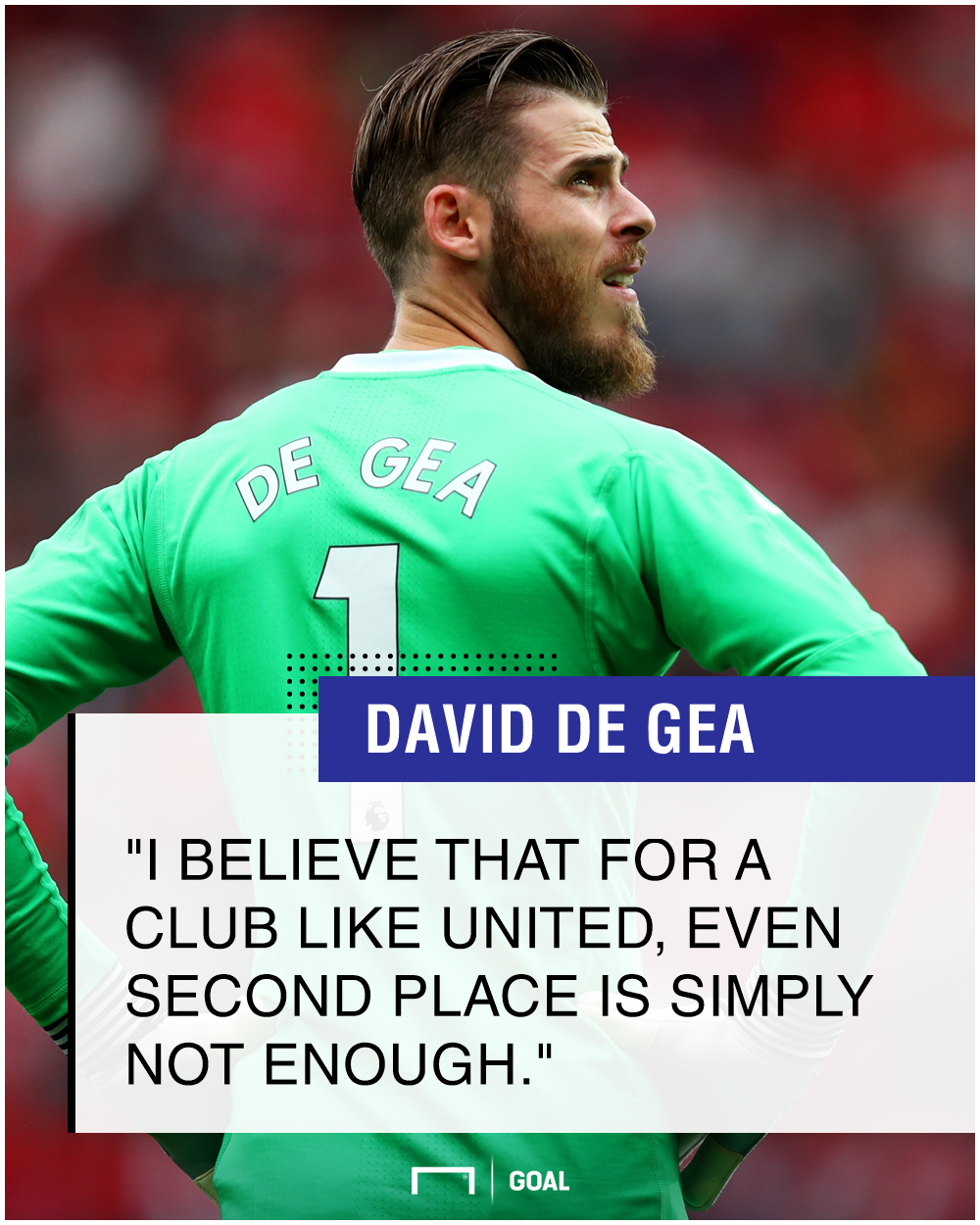 David de Gea Manchester United second not enough