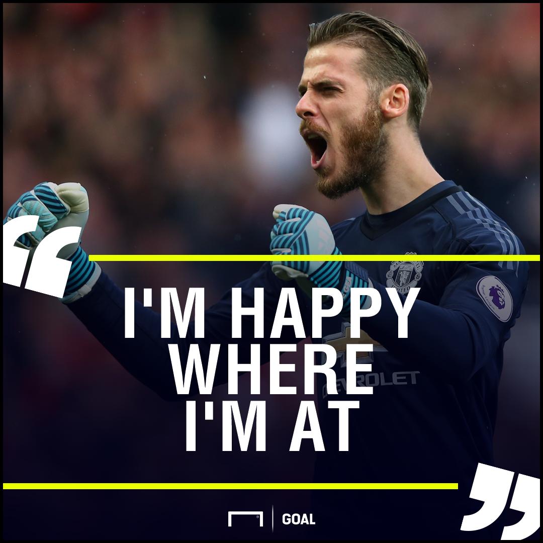 David de Gea Manchester United happy where I'm at