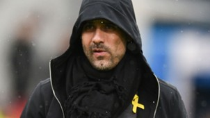 Pep Guardiola Man City yellow ribbon