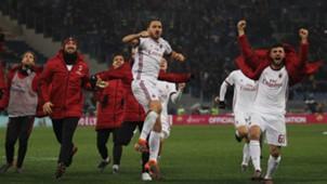 Milan celebrating Roma Serie A
