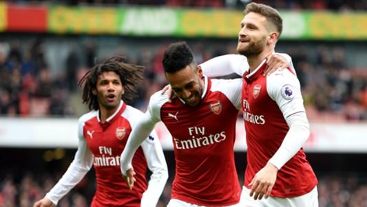Pierre-Emerick Aubameyang Shkodran Mustafi Arsenal