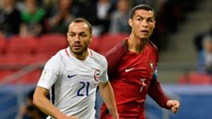 Marcelo Diaz Cristiano Ronaldo Chile Portugal