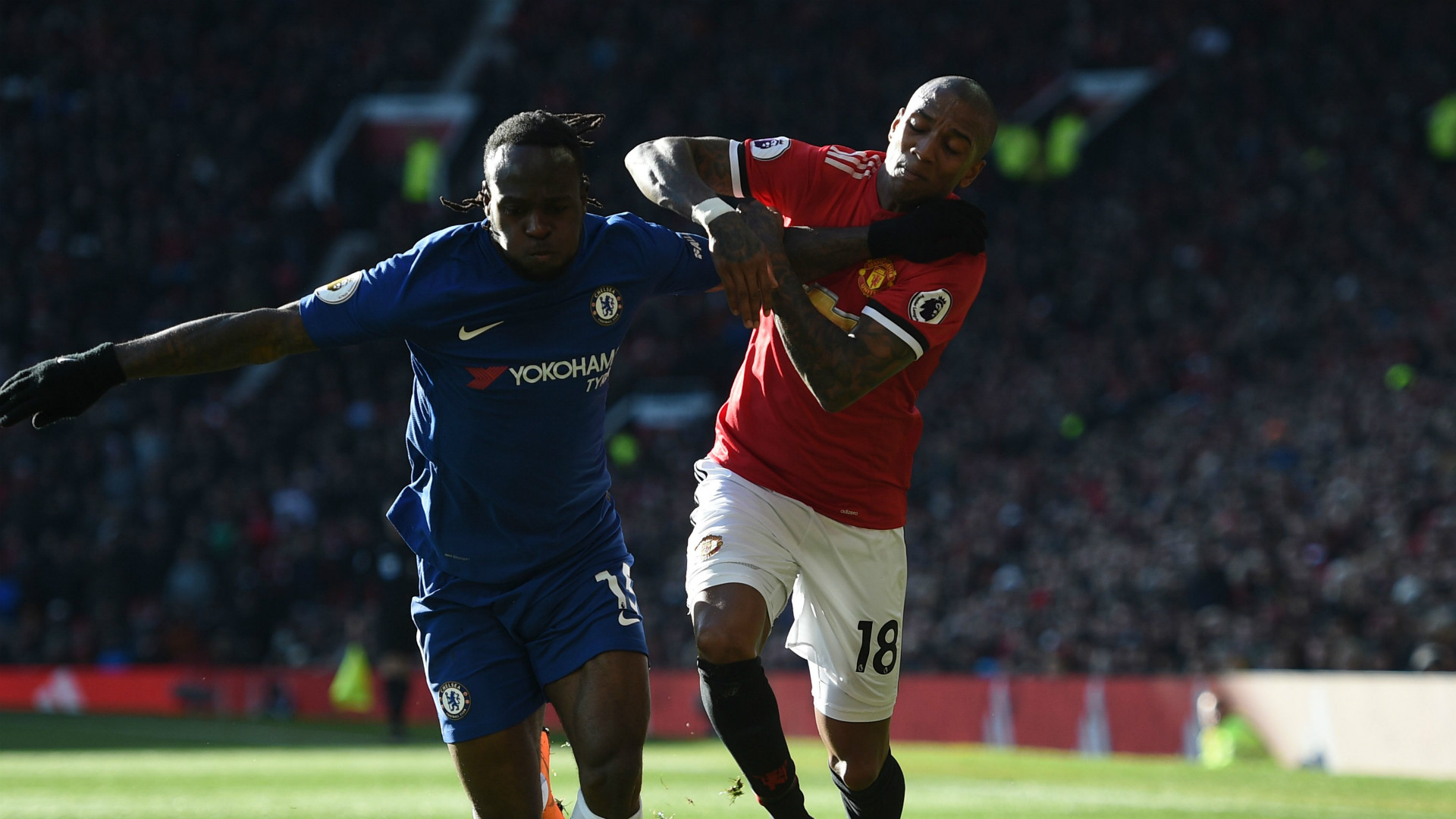 Ashley Young Manchester United Chelsea
