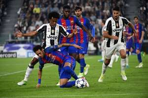 Juan Cuadrado Neymar Juventus vs Barcelona 11042017