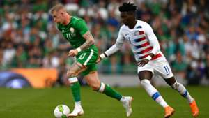 James McClean Tim Weah Ireland USA international friendly 2018