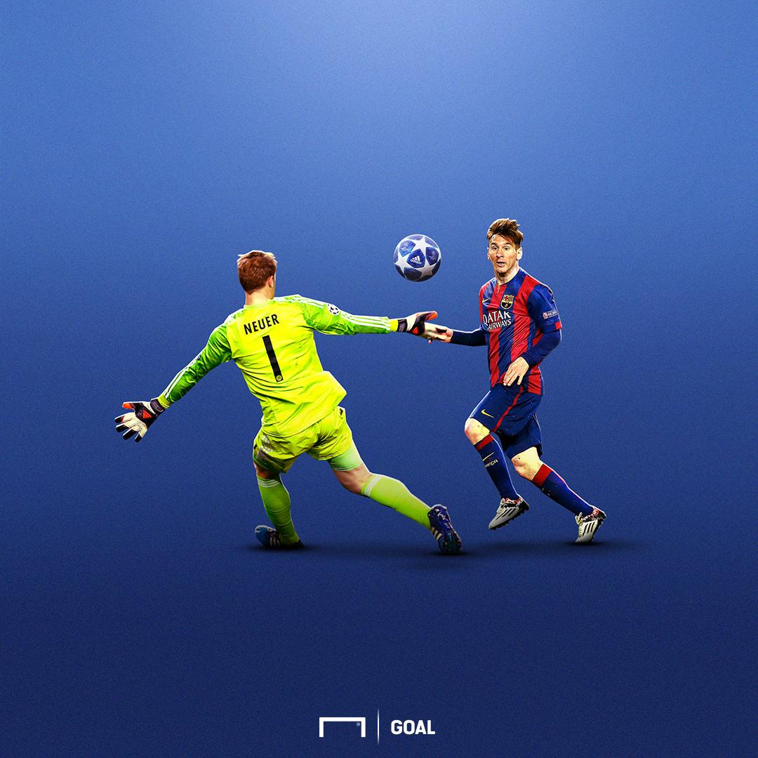 UCL ball illustration Messi
