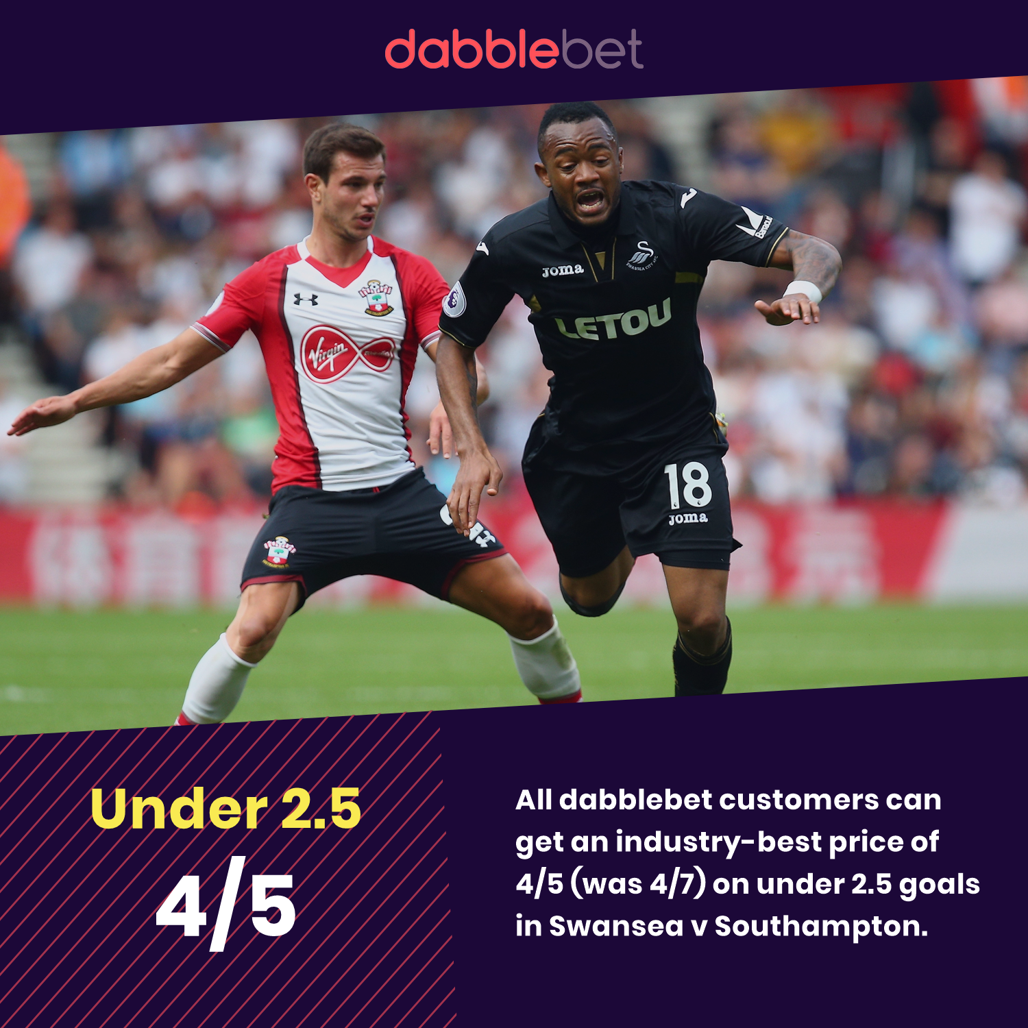 Swansea v Southampton price boost from dabblebet