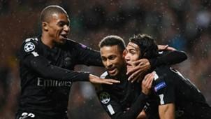 Mbappé, Cavani y Neymar 12092017