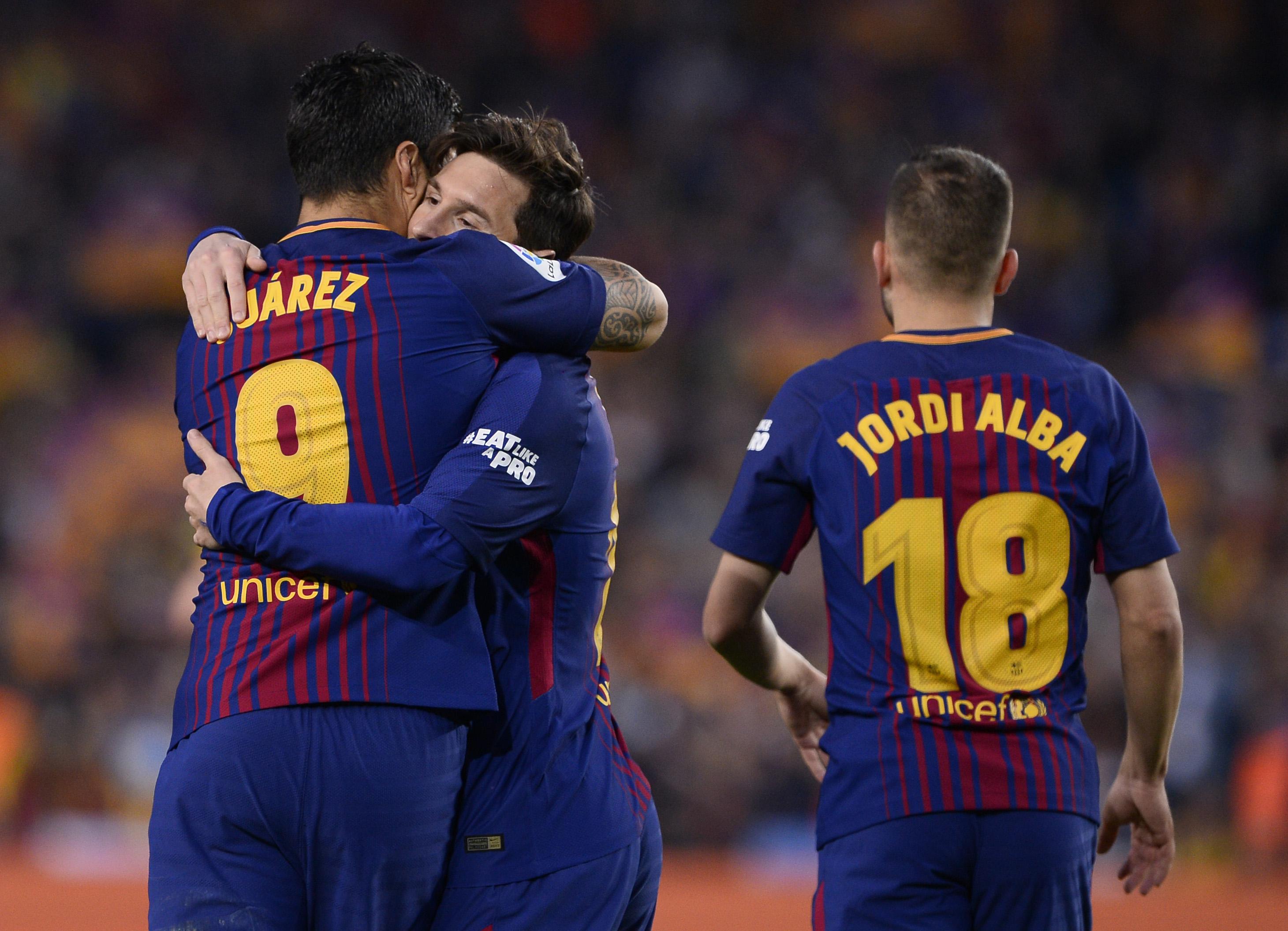 Lionel Messi Luis Suarez Barcelona Real Madrid El Clasico LaLiga 06052018