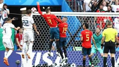 Artem Dzyuba Russia Gerard Pique Spain