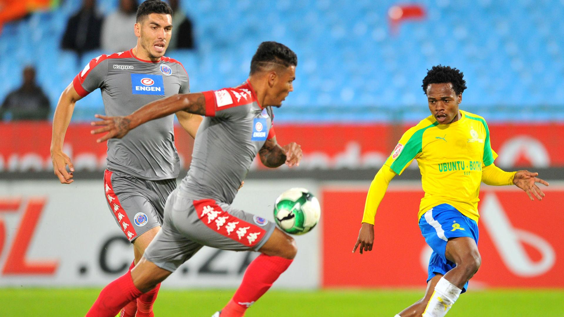 Clayton Daniels scores own goal from Tau cross - Sundowns v SuperSport United