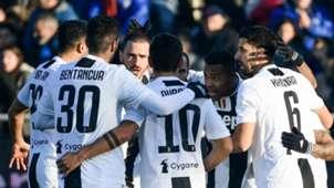 Juventus celebrating Atalanta Serie A