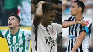 Willian, Jô e Ricardo Oliveira - Palmeiras, Corinthians, Santos - 25/10/2017