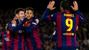 Messi Neymar Suarez 2014