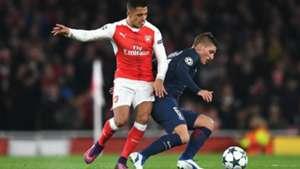 Marco Verratti Alexis Sánchez PSG Arsenal Champions 16/17