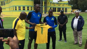 Usain Bolt at Mamelodi Sundowns.
