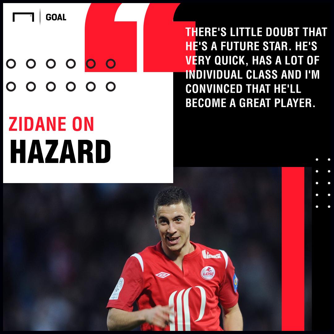 Eden Hazard Zinedine Zidane PS