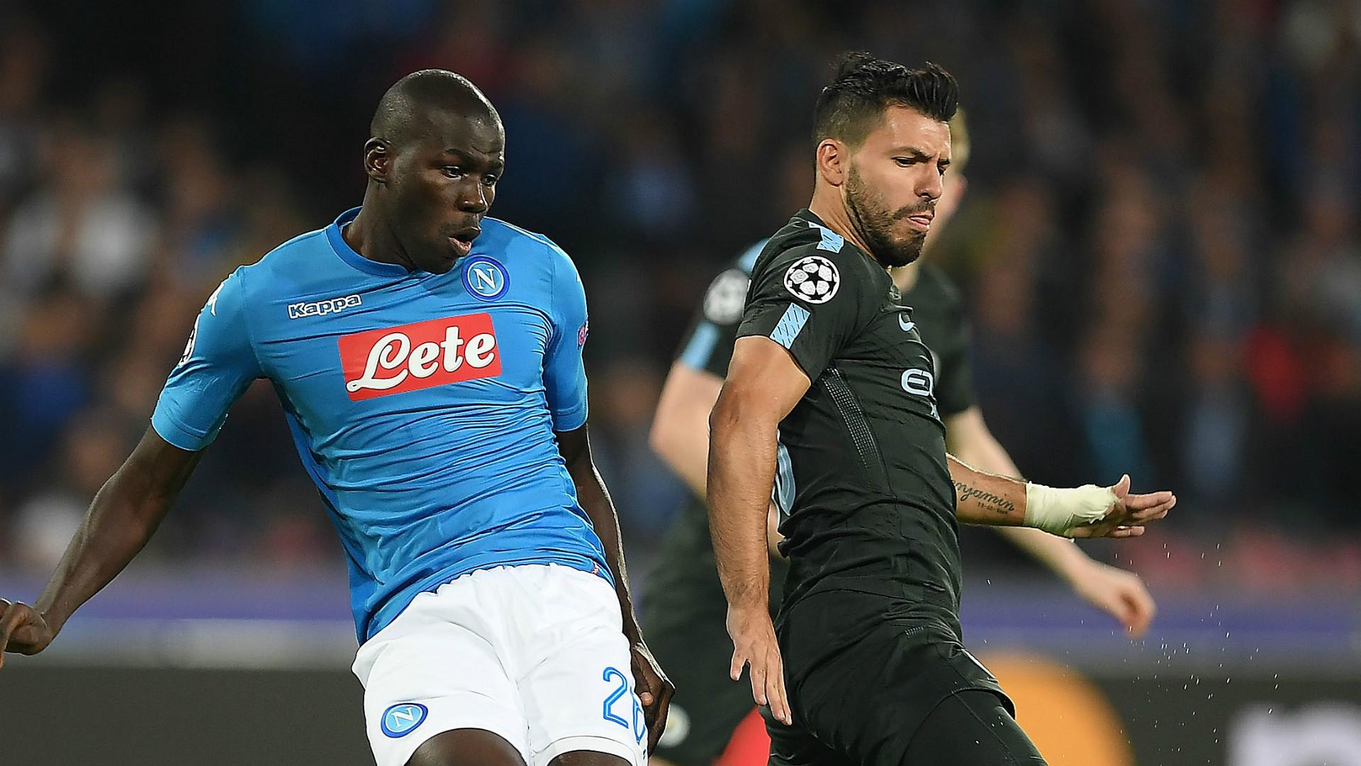 Kalidou Koulibaly Sergio Aguero Napoli Manchester City
