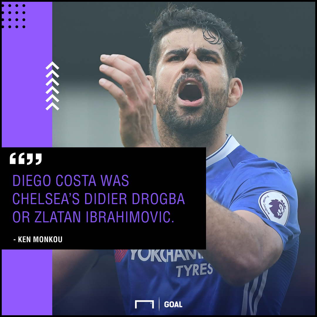 Diego Costa Chelsea's Drogba or Ibrahimovic Ken Monkou