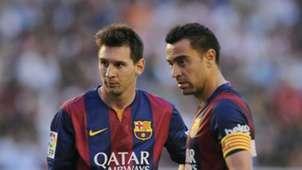 Lionel Messi Xavi Barcelona