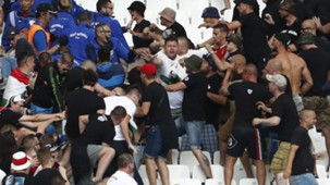 Hungary fans fighting