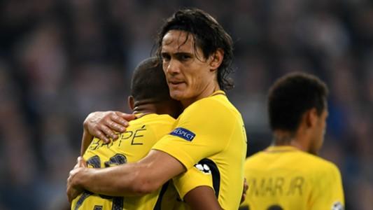 Edinson Cavani Kylian Mbappe Paris Saint-Germain