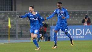 Mattia Destro celebrating Bologna Chievo Serie A
