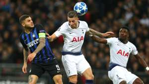 Icardi Alderweireld Tottenham Inter Champions League