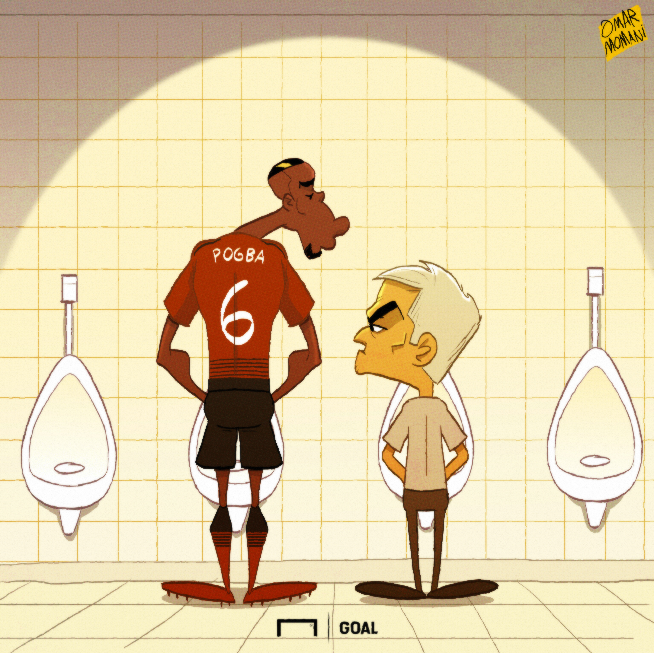 Paul Pogba Jose Mourinho Cartoon