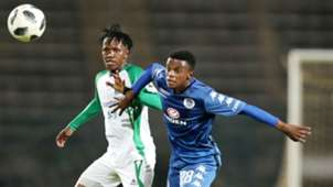 Francis Kahata, Gor Mahia & Teboho Mokoena, SuperSport United, April 2018