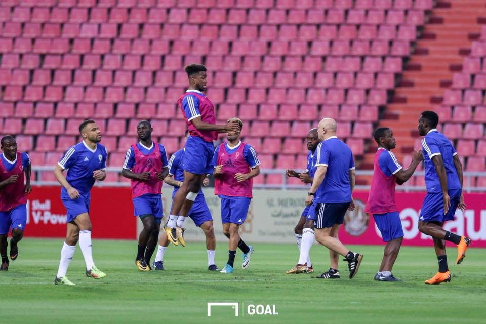 Gabon NT training at Rajamangala Stadium, Bangkok
