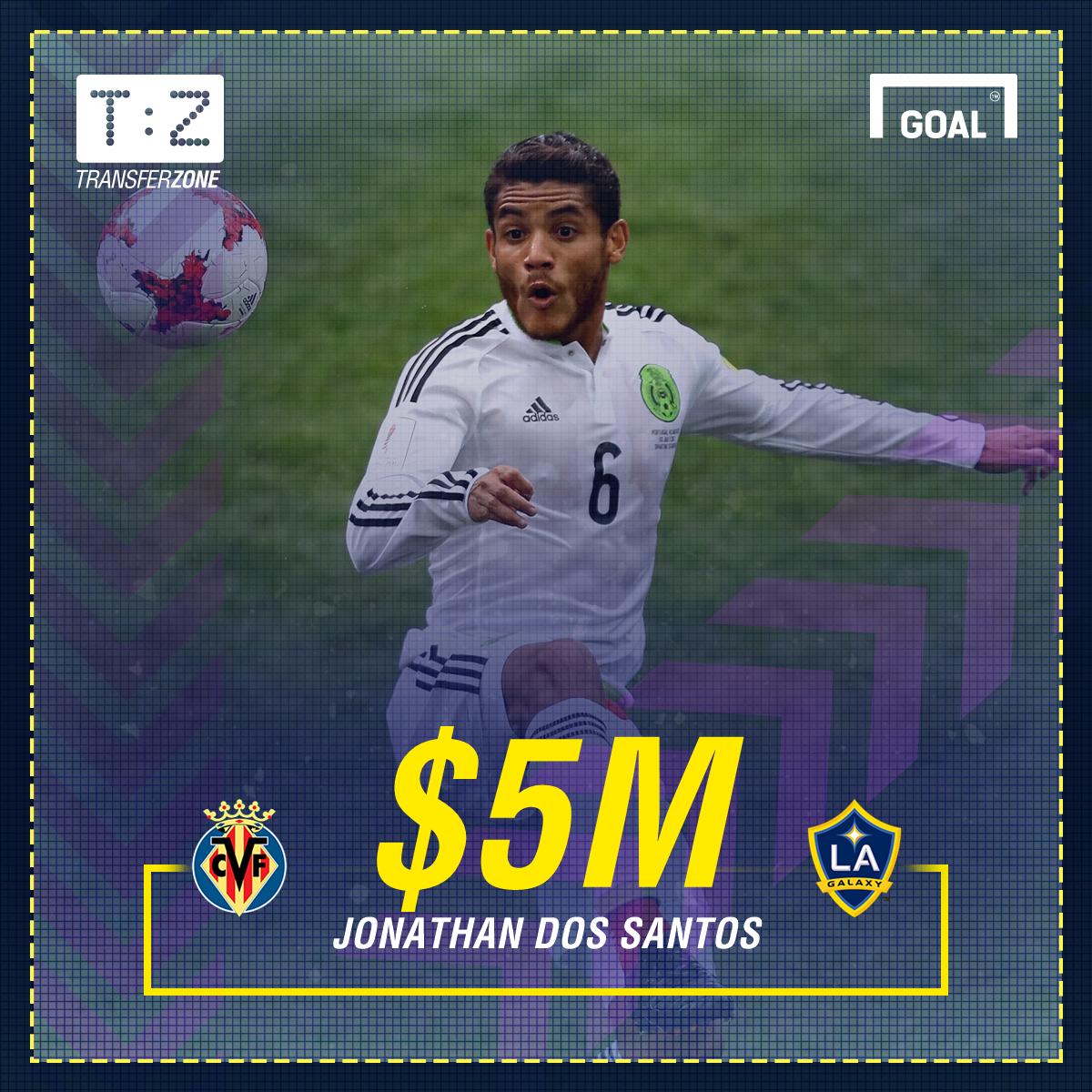 Mexico transfer news  Jonathan dos Santos officially joins LA Galaxy ... 0d1a53239